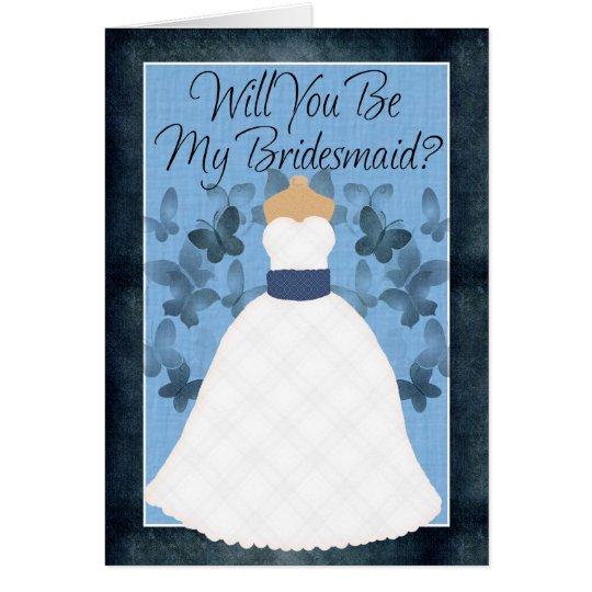 Sind Sie meine Brautjungfer? Grußkarte