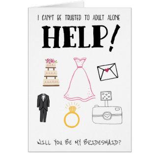 Sind Sie meine Brautjungfer Grußkarte
