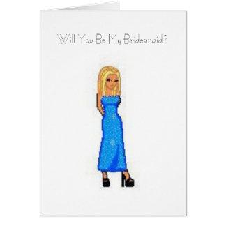 Sind Sie meine Brautjungfer? Karte