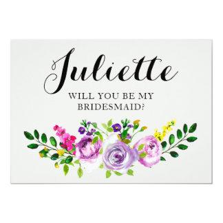 Sind Sie meine Brautjungfer? Kundengerechtes 12,7 X 17,8 Cm Einladungskarte