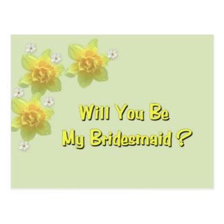 Sind Sie meine Brautjungfer? Postkarte