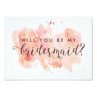 Sind Sie meine Brautjungfern-Karte 11,4 X 15,9 Cm Einladungskarte