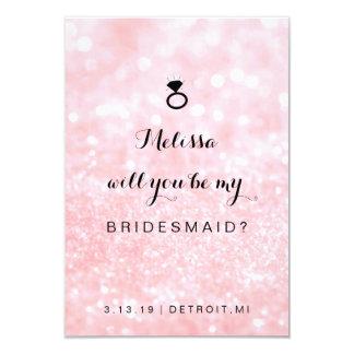 Sind Sie meine Brautjungfern-Karte - Glit 8,9 X 12,7 Cm Einladungskarte