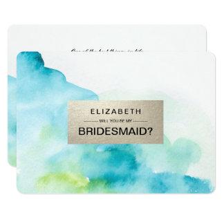 Sind Sie meine Brautjungfern? Kundenspezifische 12,7 X 17,8 Cm Einladungskarte