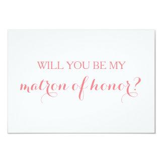 Sind Sie meine Matrone des Ehrenkarten-Brautparty Karte