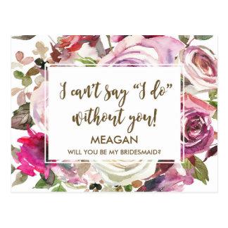 Sind Sie meine personalisierte Brautjungfernkarte Postkarte