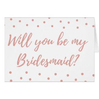 Sind Sie sind meine Brautjungfer? Grußkarte