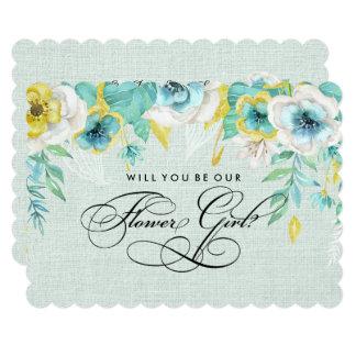 Sind Sie unser Blumen-Mädchen? Kundenspezifische Karte