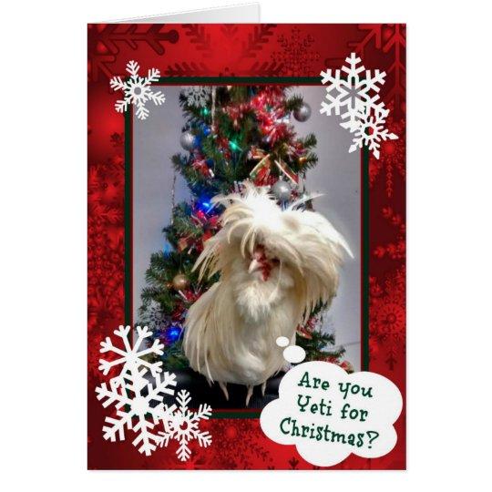 Sind Sie Yeti für Weihnachten! Grußkarte