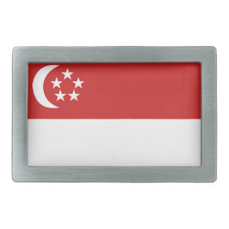 Singapur-Flagge Rechteckige Gürtelschnallen