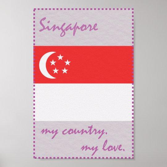 Singapur mein Land meine Liebe Poster