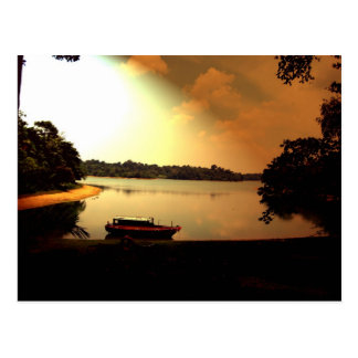 Singapur-Sonnenuntergang Postkarte