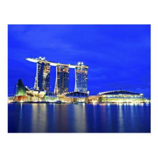 Singapur-Ufergegend-Postkarte Postkarte