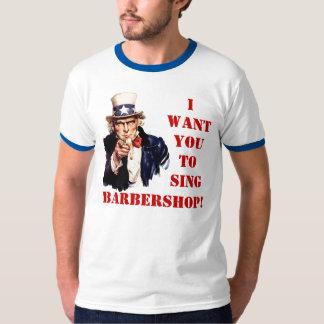 Singen Sie Friseursalon T-Shirt