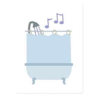 Singen Sie in der Dusche Postkarte