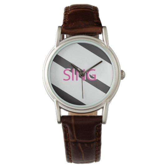 Singen Sie modisches Rosa Armbanduhr