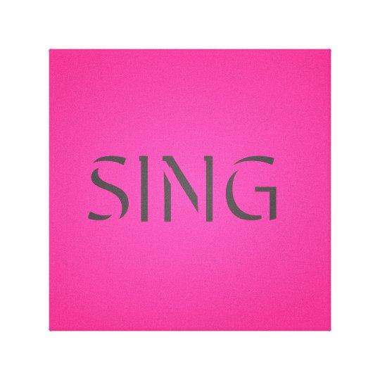 Singen Sie modisches Rosa Leinwanddruck