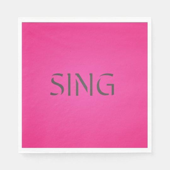 Singen Sie modisches Rosa Servietten