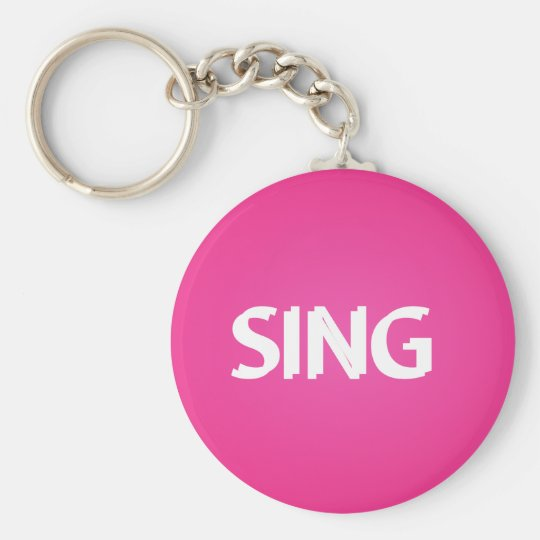 Singen Sie modisches Rosa Standard Runder Schlüsselanhänger