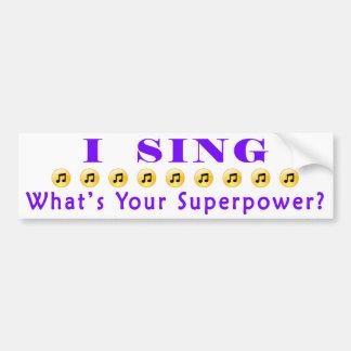 Singen Sie Supermacht-Autoaufkleber Autoaufkleber