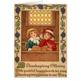 Singende Kinder Grußkarte