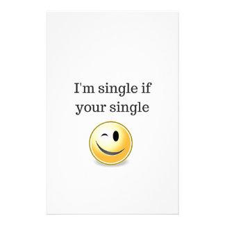 Single Im wenn Ihr Single - lustiger flirtenwink Briefpapier