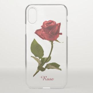 Single-Rosen-Blumenphotographie - klares BG iPhone X Hülle
