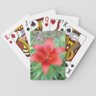 Single-Rot-Blume Spielkarten