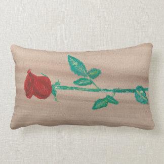 Single-Rote Rose Lendenkissen