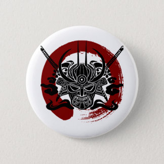 Single-Samurai Enso Blut-Kreis Runder Button 5,1 Cm