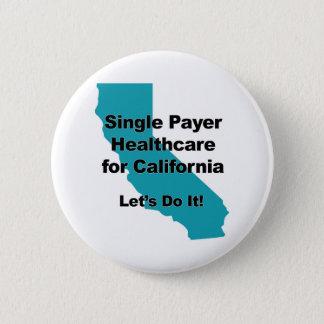 Single-Zahler-Gesundheitswesen für Kalifornien Runder Button 5,1 Cm
