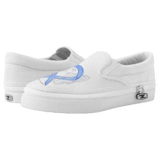 Singrün-Bewusstseins-Band-Engels-kundenspezifische Slip-On Sneaker