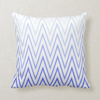 Singrün-blaue weiße Steigungs-Zickzack Muster Kissen