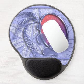 Singrün-blaues grafisches Herz-ovaler Foto-Rahmen Gel Mouse Matte