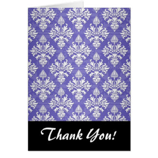 Singrün-blaues lila Artischocken-Damast-Muster Karte