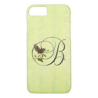Singvogel des Monogramm-B iPhone 7 Hülle