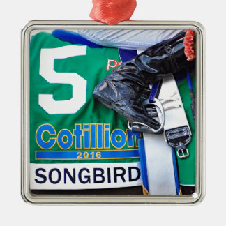 Singvogel-Kotillon 16' Silbernes Ornament