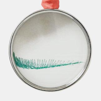 Sinnessegeln Rundes Silberfarbenes Ornament