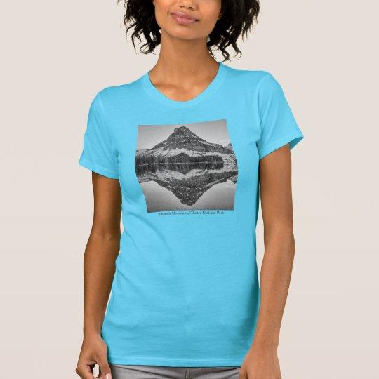 Sinopah Gebirgsreflexions-Entwurf T-Shirt