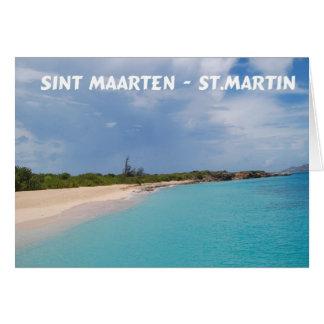 Sint Maarten - St- Martinstrand-Szene Grußkarte