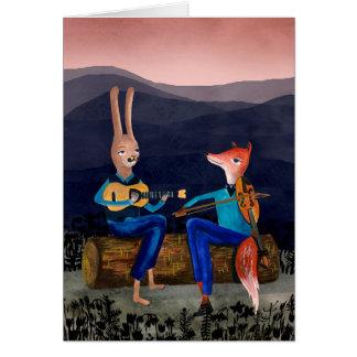 Sinti und Roma-Jazz - süße Tiere, die Musik-Karte Grußkarte