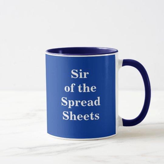 Sir der Verteilungsbögen - Spitzname-Tasse Tasse