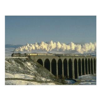 Sir Lamiel kreuzt Ribblehead Viaduct auf dem Settl Postkarte