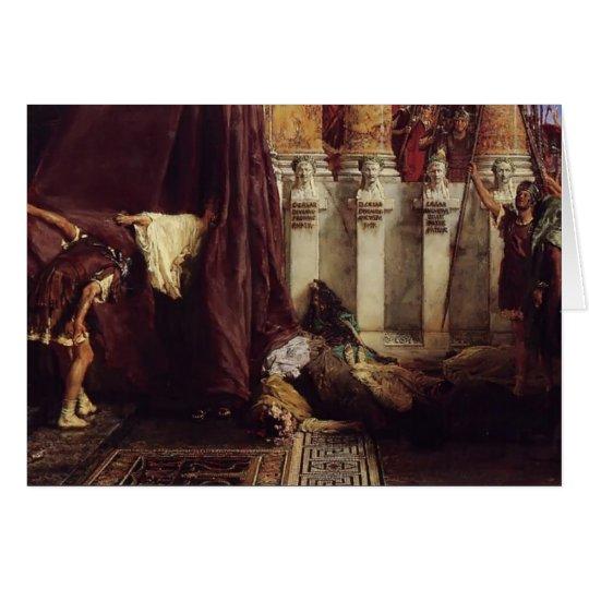 Sir Lawrence Tadema: Allee Caesar! IoSaturnalia! Grußkarte