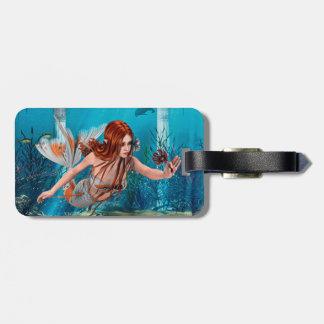 Sirène et lis de mer étiquettes bagages