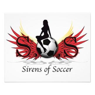 Sirènes du football prospectus 11,4 cm x 14,2 cm