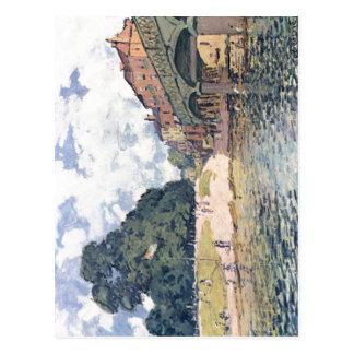 Sisley, Alfred-Br? cke von-Hampton Court Techn Postkarte