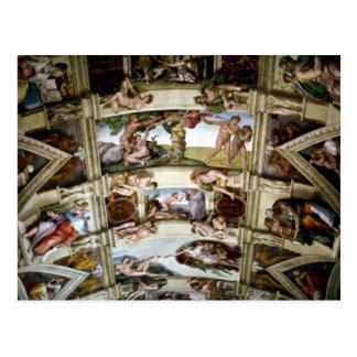 Sistine Kapelle, Vatikan, Rom, Italien Postkarte