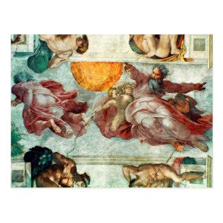 Sistine Kapellen-Decke 3 Postkarte
