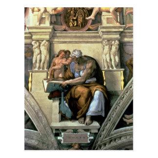 Sistine Kapellen-Decke: Cumaean Sibyl, 1510 Postkarte